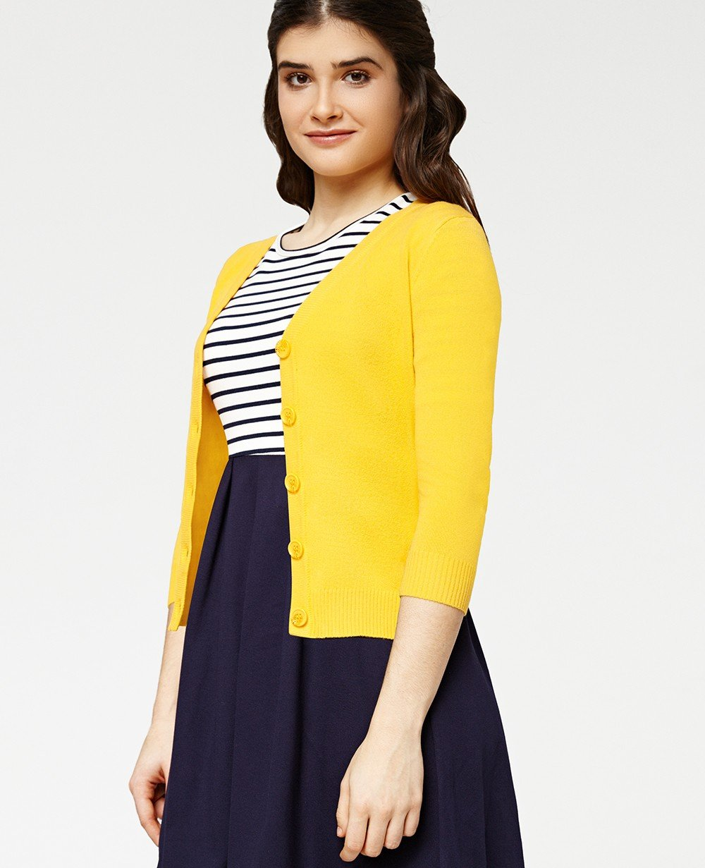 Misfit London Oxford Academy Cardigan in Honey British Teacher Style Cardigan