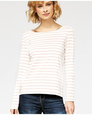 Misfit London Sophie White & Pink Stripe British Countryside 100% Cotton Top