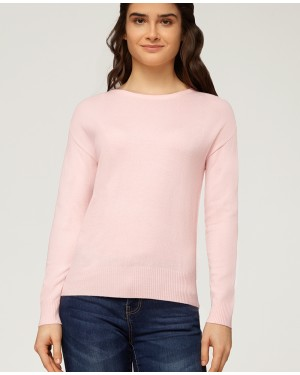 Misfit London Beatrice Dust Pink British Countryside Relaxed Fitted Jumper