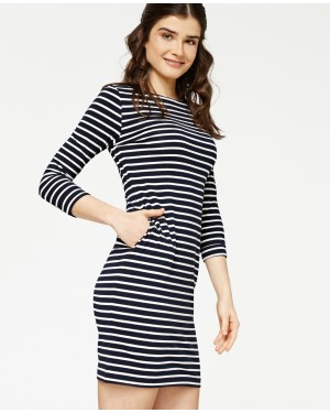 Misfit London Lily Navy Stripe British Country Lifestyle Dress