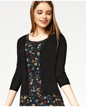 Misfit London Oxford Academy Cardigan in Black British Teach Style Cardigan